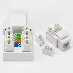 modular jack wiring diagram 90303wt rj11 12 keystone jack white color directcable4less com #10